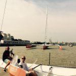 the bridge nantes multi50 team reaute chocolat armel tripon logistique shore team